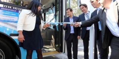 Presentaron los micros de ArBus, la empresa de transporte ligada a La Cámpora