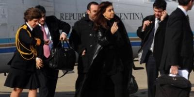 La Presidente inició su viaje hacia el Vaticano y los EEUU, y  Boudou quedó al frente del Gobierno