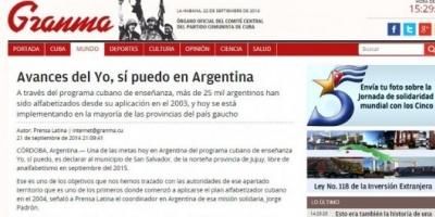 Argentina aplica un programa educativo ideado por Fidel Castro