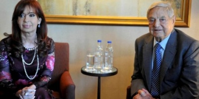 En pleno conflicto con los holdouts, Cristina Kirchner se reunió con George Soros