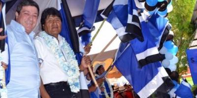 Mariotto viajó a Bolivia para acompañar a Evo Morales en sus recorridas de campaña