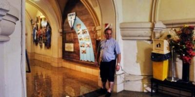 Luján sufrió la tercera inundación más importante de su historia y el agua volvió a afectar a la Basílica
