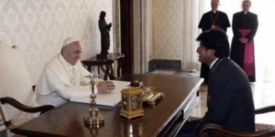 """Evo Morales: """"""""El papa Francisco el próximo año va a visitar Bolivia"""""""