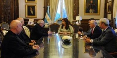 Cristina recibió a la cúpula de la Iglesia católica en Casa de Gobierno