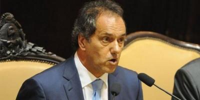 """Scioli, en su último mensaje a la Legislatura: """"Estoy orgulloso de pertenecer a este espacio"""""""