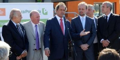 Tras bajar su candidatura a jefe de Gobierno, Marangoni reapareció junto a Scioli