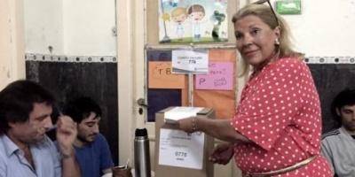 """Carrió adelantó el horario de su voto por """"cuestiones de seguridad"""""""