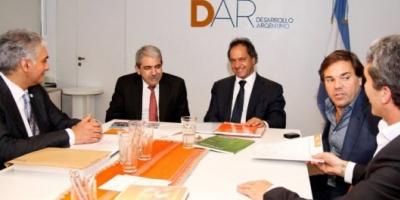 Scioli analizó temas de la campaña bonaerense con Aníbal Fernández