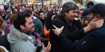 Máximo Kirchner continuó su recorrida de campaña por El Calafate