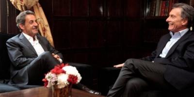 Mauricio Macri se reunió con el ex presidente francés Nicolas Sarkozy
