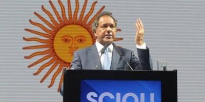 Scioli ratificó su agenda sobre trabajo y seguridad habitacional y ciudadana
