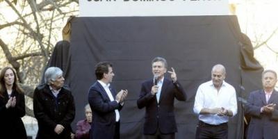 Junto a Duhalde y Moyano, Macri inauguró un monumento a Perón y pidió el apoyo al peronismo opositor