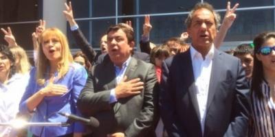 """Daniel Scioli reapareció en La Matanza: """"Estoy acá para agradecer"""""""