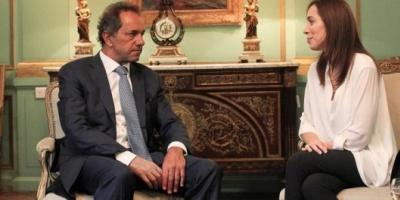 """""""Fue una buena reunión"""", dijo María Eugenia Vidal luego de encontrarse con Daniel Scioli"""