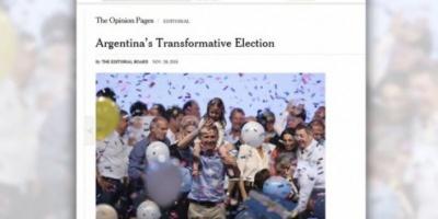 """The New York Times: """"La victoria de Macri puede iniciar una era de transformación en la región"""""""