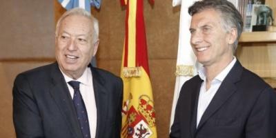 Macri inauguró su agenda internacional con la visita del canciller de España