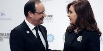 "Hollande felicitó a Cristina por haber ""permitido a la Argentina levantarse"""