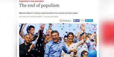 """Para The Economist, con el triunfo de Mauricio Macri llega """"el fin del populismo"""""""