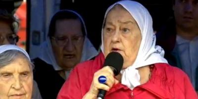 """Denunciaron a Hebe de Bonafini por llamar a """"resistir y confrontar"""" al gobierno de Macri"""