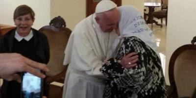 El papa Francisco recibió durante una hora a Hebe de Bonafini