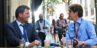 Sergio Massa viajó a la Convención Demócrata en los EEUU y se reunió con Martín Lousteau