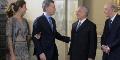Mauricio Macri recibirá a Michel Temer en la Casa Rosada el próximo lunes