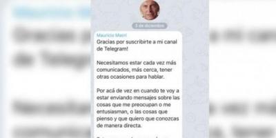 Macri presentó su nueva cuenta en un servicio web de mensajería