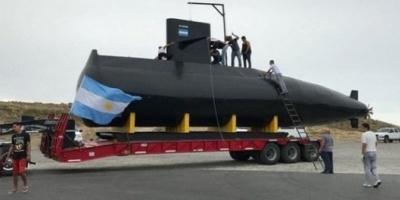 Una réplica del ARA San Juan inició en Trelew un recorrido por todo el país
