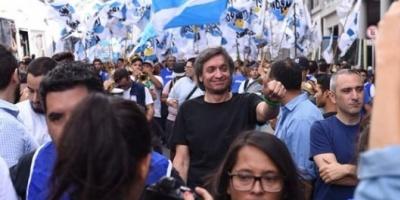 Máximo Kirchner, La Cámpora, Zaffaroni y Hebe de Bonafini participaron de la movilización de Hugo Moyano