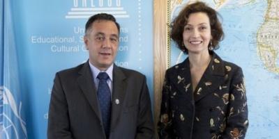Alejandro Finocchiaro se reunió con la directora de la Unesco