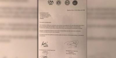 El campo le envió una carta al Presidente ante un posible cambio en el esquema de retenciones
