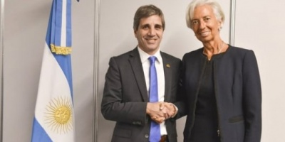 La primera reunión de Christine Lagarde en el país fue con Luis Caputo
