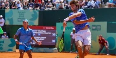 Oro: Báez y Díaz Acosta se consagraron campeones en el dobles del tenis masculino