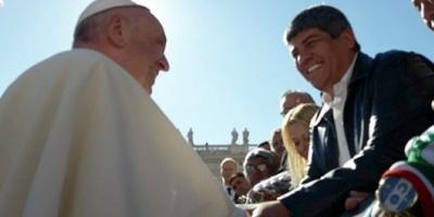 """Pablo Moyano: """"No se podría haber hecho la movilización a Luján sin la venia del papa Francisco"""""""