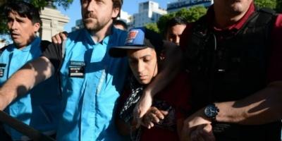 Dos detenidos en la protesta contra el Presupuesto 2019 frente al Congreso