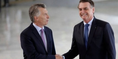 """Macri y Bolsonaro repudiaron """"la dictadura de Maduro"""" y coincidieron en la necesidad de profundizar la relación bilateral"""