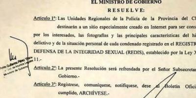 Chubut: crearon un registro online con fotos y datos de condenados por delitos sexuales
