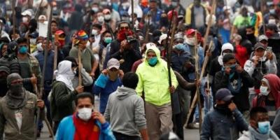 Nueva jornada de manifestaciones y disturbios en Quito: se unieron tribus llegadas desde la Amazonía