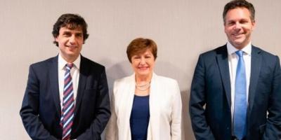 """Reunión en Washington: Georgieva le ratificó a Lacunza el """"firme compromiso"""" del FMI con la Argentina"""