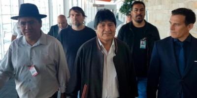 """Evo Morales: """"Arribé a la Argentina para seguir luchando por los más humildes y para unir a la Patria Grande"""""""