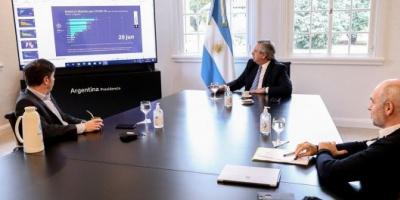 Alberto Fernández está reunido con Larreta y Kicillof para definir cómo sigue la cuarentena