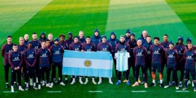 El tributo del PSG a Maradona que generó una ola de críticas a Mauro Icardi en las redes