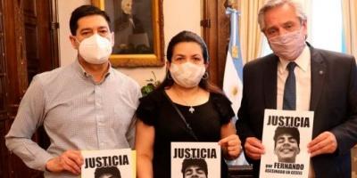 El Presidente recibió en Casa Rosada a los padres de Fernando Báez Sosa