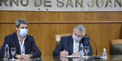 El Gobierno anticipará fondos a San Juan para la construcción de viviendas  <div> </div>