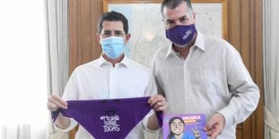 """De Pedro y Vilma Ibarra junto a padre de Micaela García: """"Si la Justicia es lenta, hay femicidios"""""""