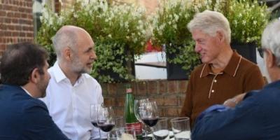 Rodríguez Larreta y Bill Clinton mantuvieron un almuerzo en Nueva York